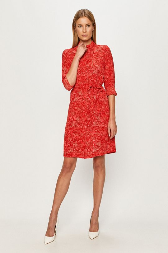 Vero Moda - Sukienka ostry czerwony