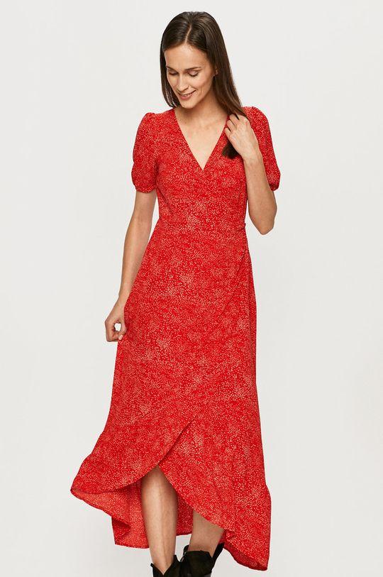 sýtočervená Vero Moda - Šaty Dámsky