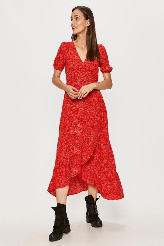Vero Moda - Šaty sýtočervená