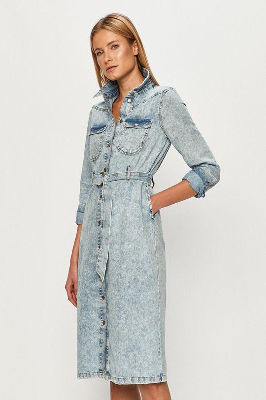 modrá Vero Moda - Rifľové šaty Dámsky