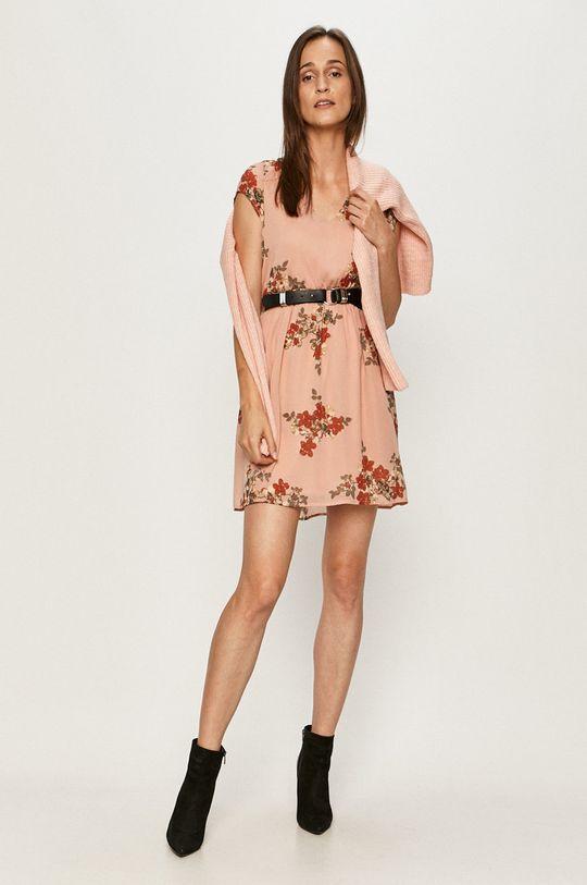 staroružová Vero Moda - Šaty Dámsky