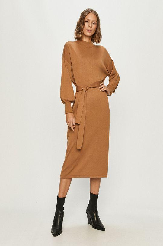 Vero Moda - Sukienka brązowy