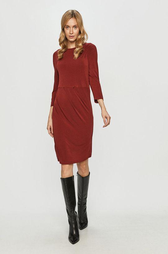 Vero Moda - Sukienka mahoniowy