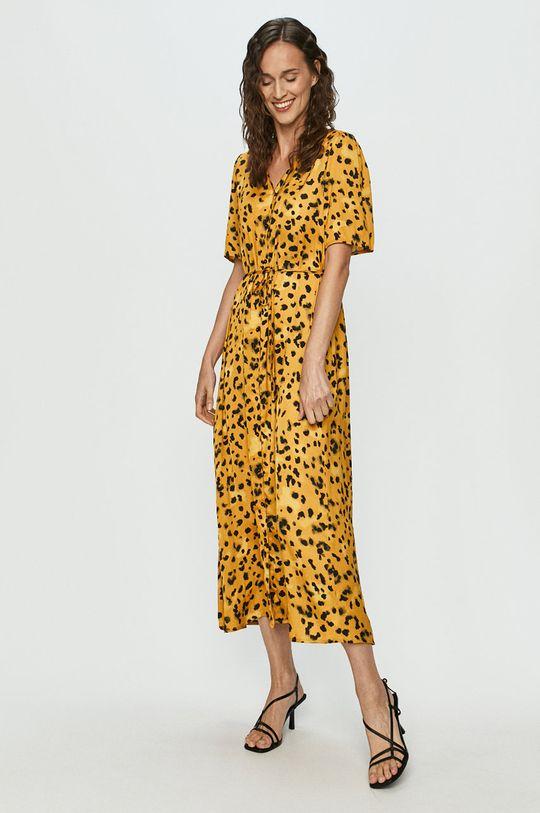 Jacqueline de Yong - Sukienka ciepły oliwkowy