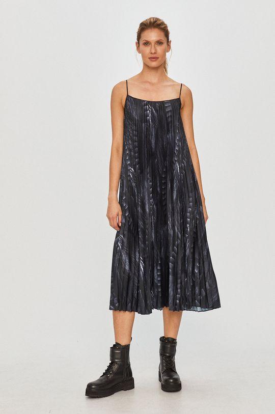 AllSaints - Šaty a sveter čierna