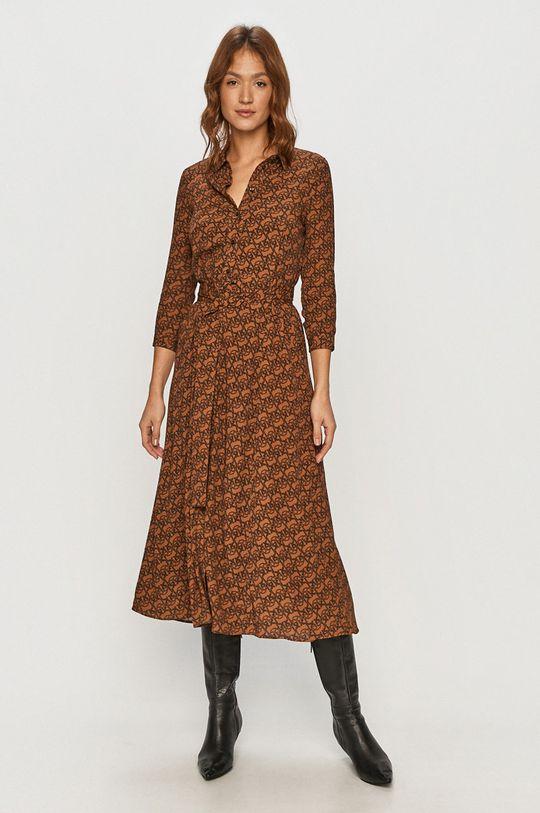 Pinko - Sukienka brązowy