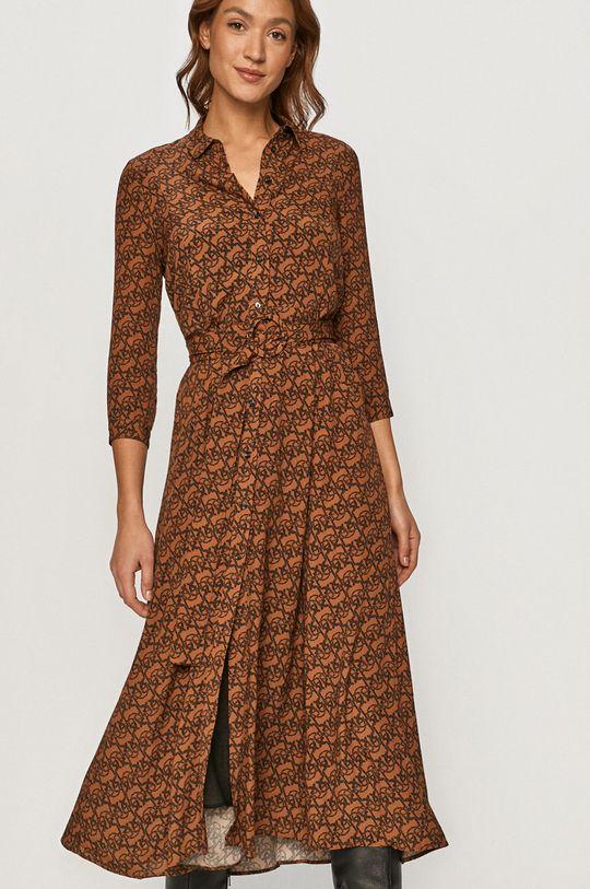 brązowy Pinko - Sukienka