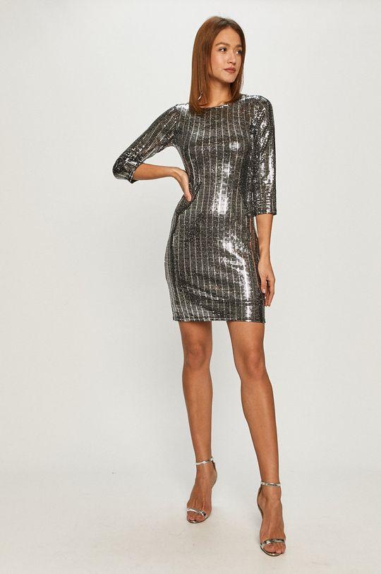 Morgan - Šaty stříbrná