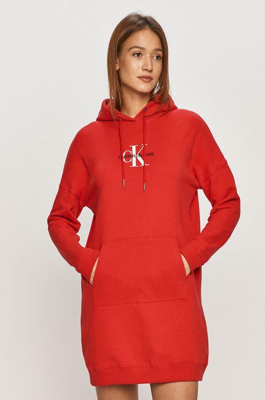 czerwony Calvin Klein Jeans - Sukienka Damski
