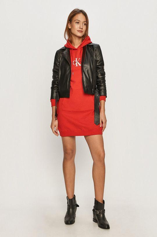 Calvin Klein Jeans - Sukienka czerwony