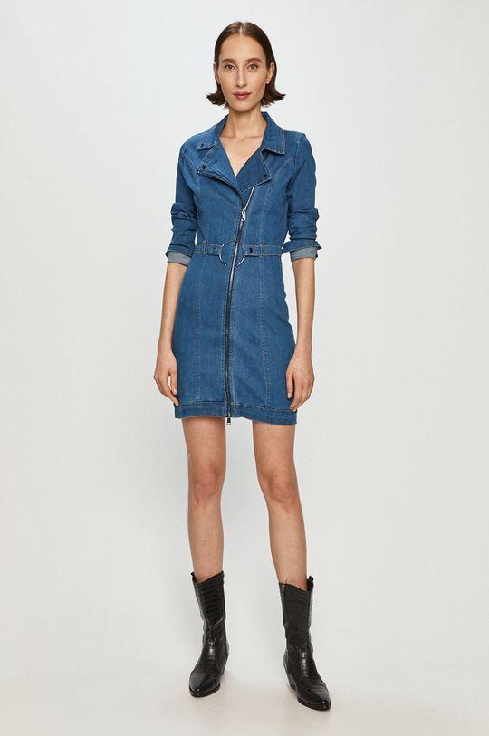 Guess - Sukienka jeansowa niebieski