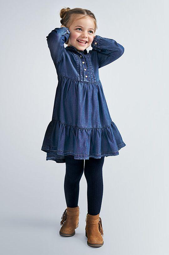 oceľová modrá Mayoral - Dievčenské šaty 92-134 cm Dievčenský
