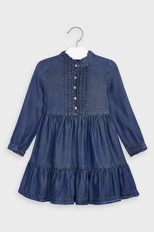Mayoral - Dievčenské šaty 92-134 cm oceľová modrá
