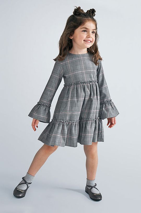 sivá Mayoral - Dievčenské šaty 98-134 cm Dievčenský