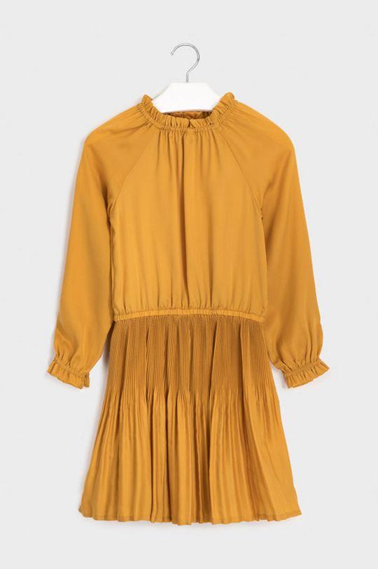 Mayoral - Dívčí šaty 128-167 cm jantarová