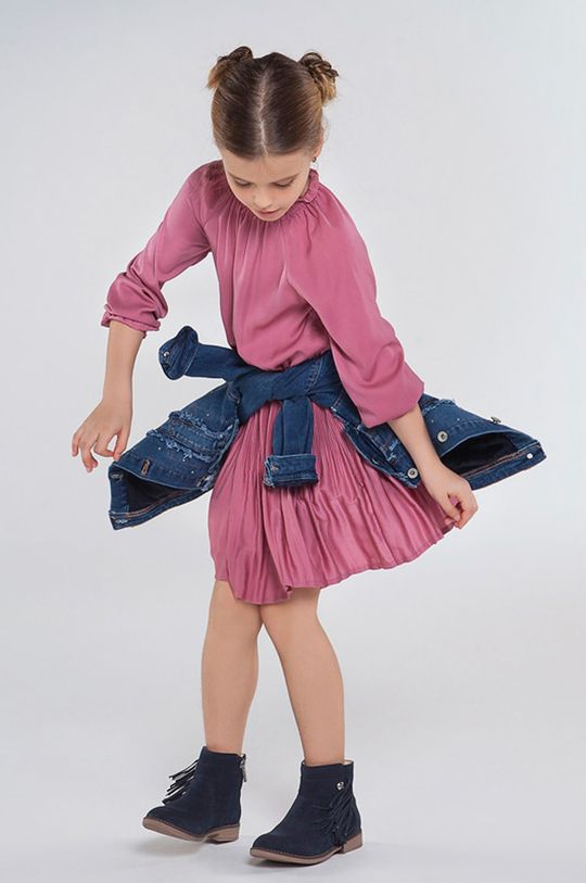 staroružová Mayoral - Dievčenské šaty 128-167 cm Dievčenský