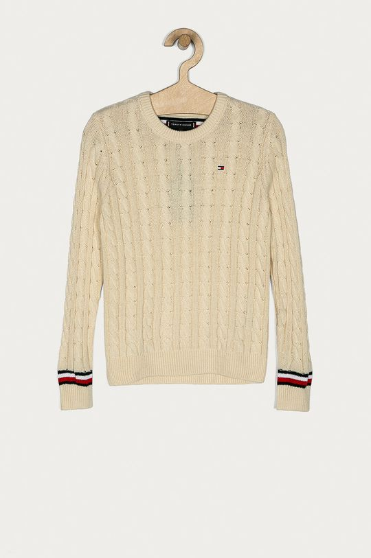 krémová Tommy Hilfiger - Detský sveter 128-176 cm Chlapčenský