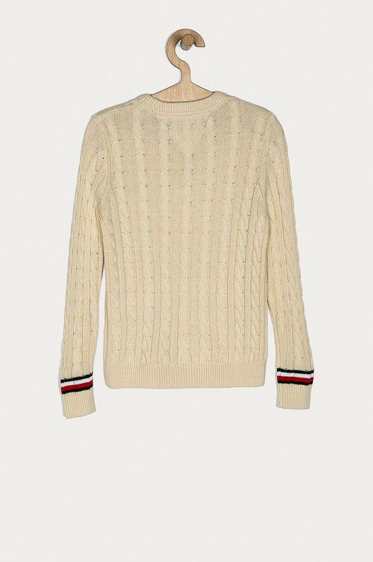 Tommy Hilfiger - Detský sveter 128-176 cm krémová
