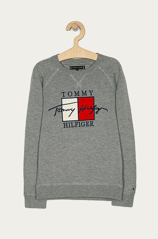 szary Tommy Hilfiger - Sweter dziecięcy 128-176 cm Chłopięcy