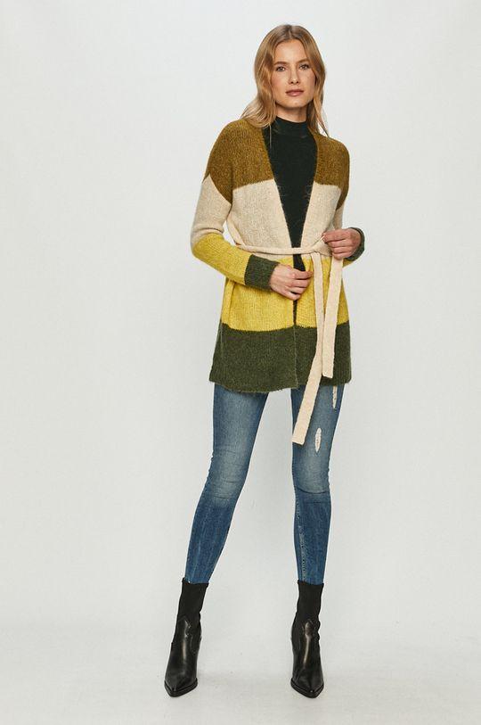 Vero Moda - Kardigan brązowa zieleń