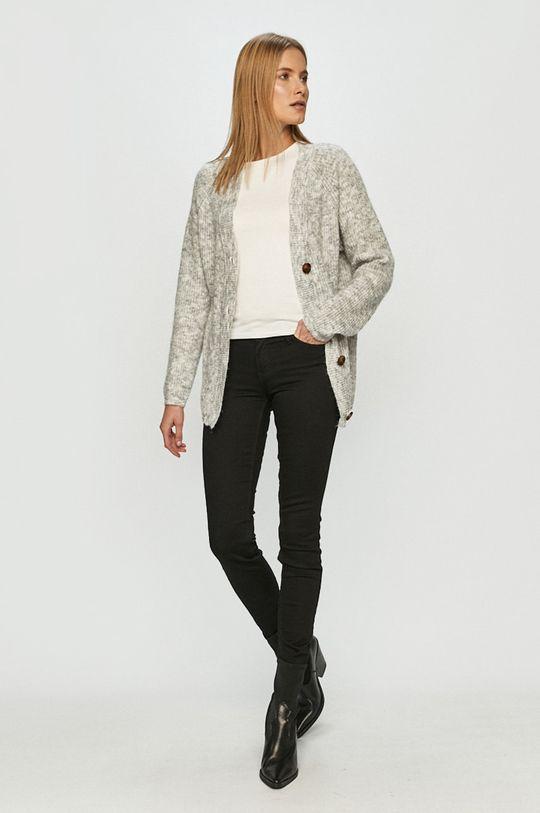 Vero Moda - Kardigan jasny szary