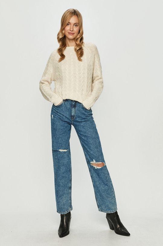 Vero Moda - Sweter kremowy