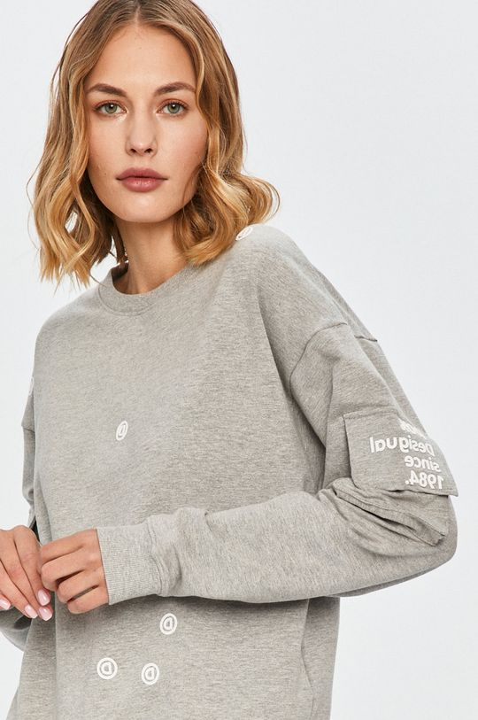gri deschis Desigual Sport - Bluza