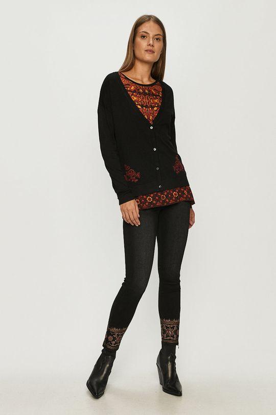 Desigual - Sweter czarny