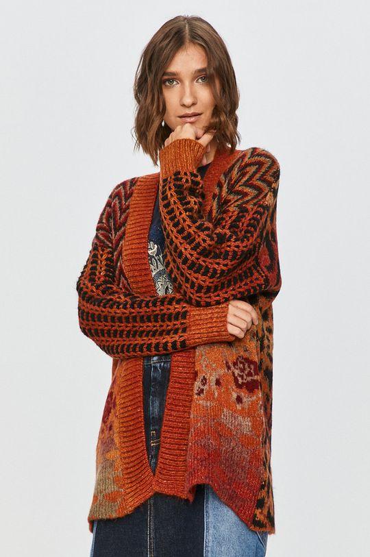 portocaliu Desigual - Cardigan De femei