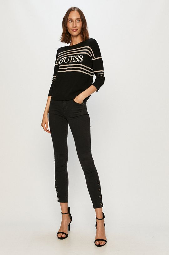 Guess Jeans - Pulover negru