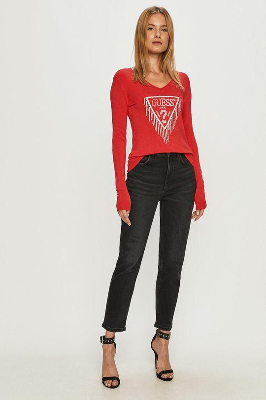 Guess Jeans - Svetr červená