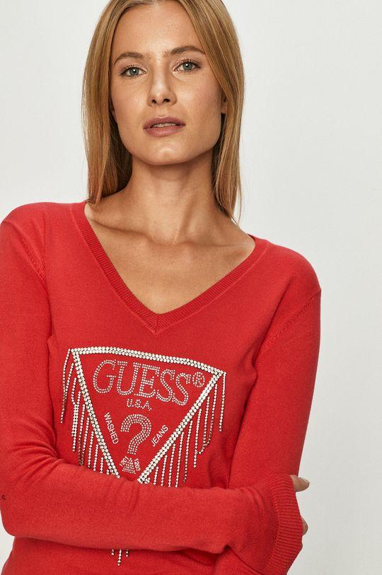 červená Guess Jeans - Svetr
