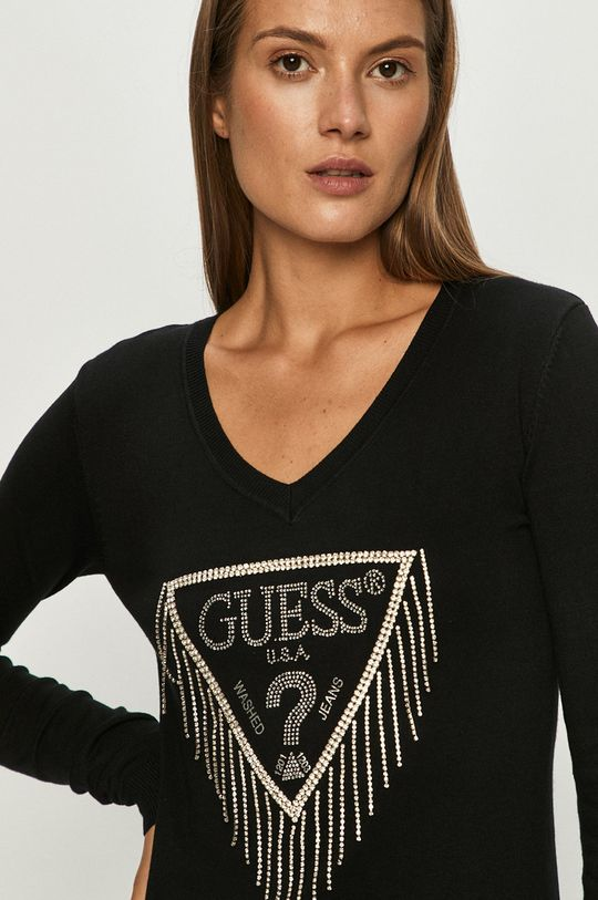 czarny Guess Jeans - Sweter Damski