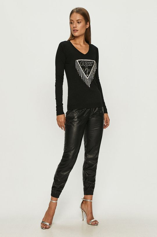 Guess Jeans - Sweter czarny