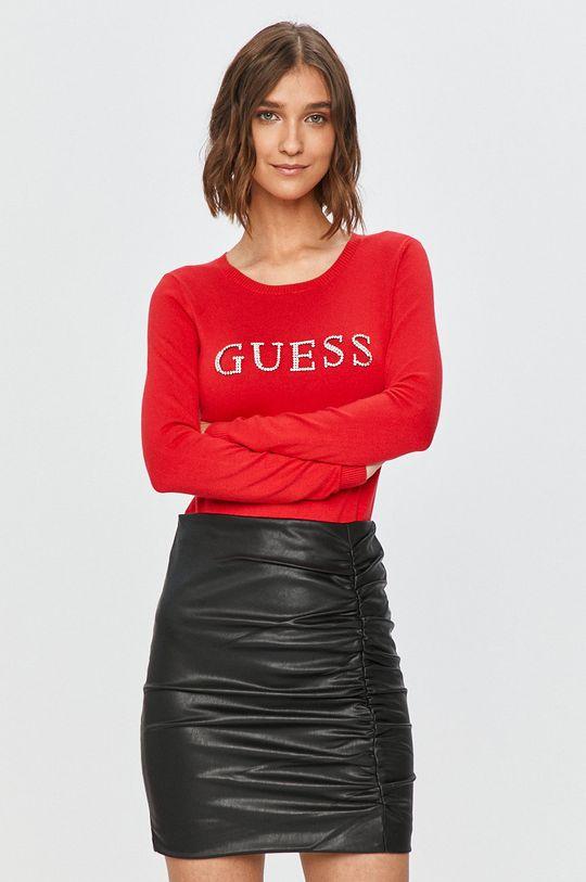 červená Guess Jeans - Sveter Dámsky