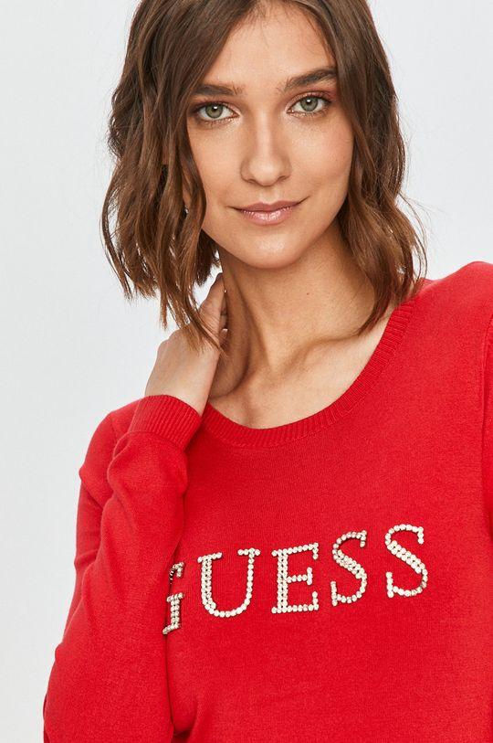 červená Guess Jeans - Sveter