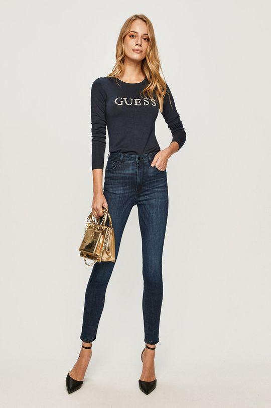 Guess Jeans - Pulover bleumarin