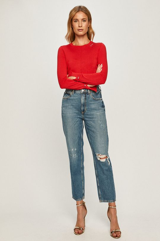 Guess Jeans - Pulover rosu