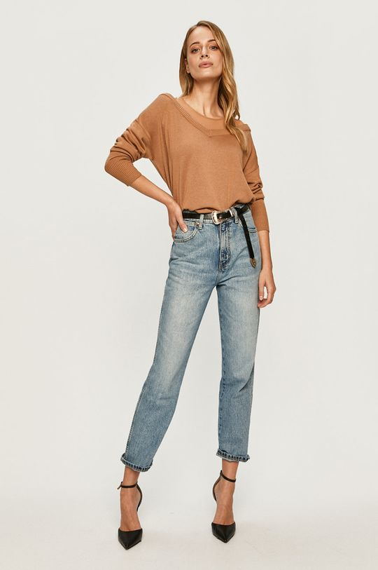 Guess Jeans - Pulover maro auriu