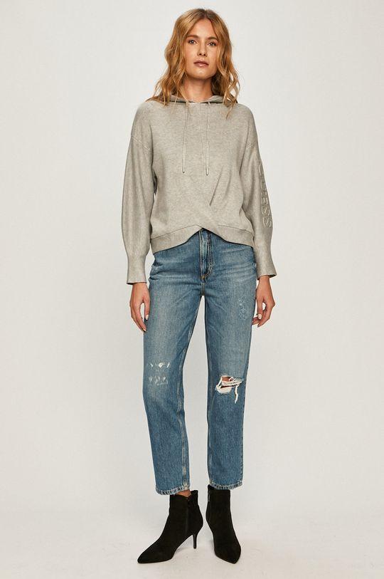 Guess Jeans - Pulover gri deschis