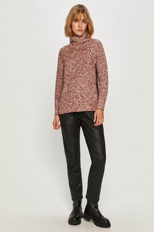 Calvin Klein - Sweter fiołkowo różowy