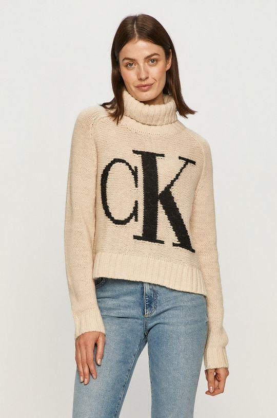smetanová Calvin Klein Jeans - Svetr Dámský