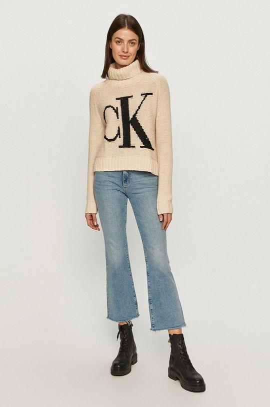 Calvin Klein Jeans - Svetr smetanová