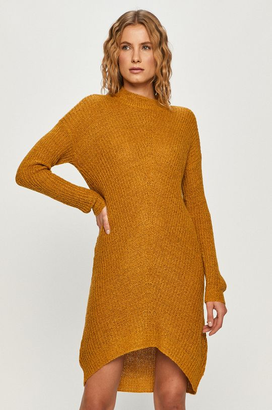 Jacqueline de Yong - Sweter ciepły oliwkowy