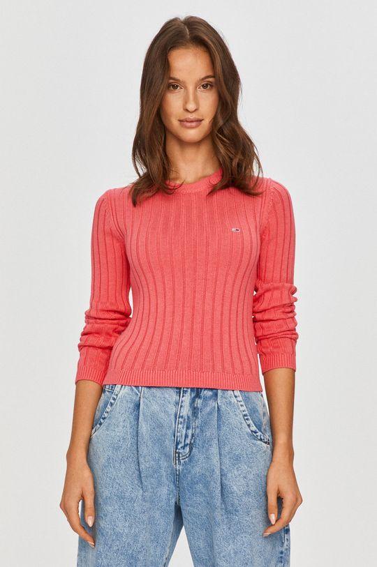 roz Tommy Jeans - Pulover De femei