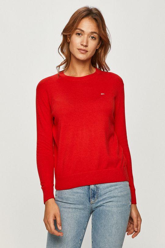 czerwony Tommy Jeans - Sweter Damski