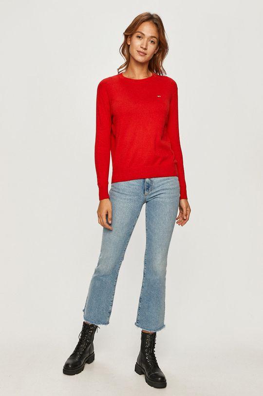 Tommy Jeans - Sweter czerwony