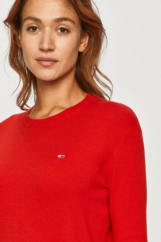czerwony Tommy Jeans - Sweter