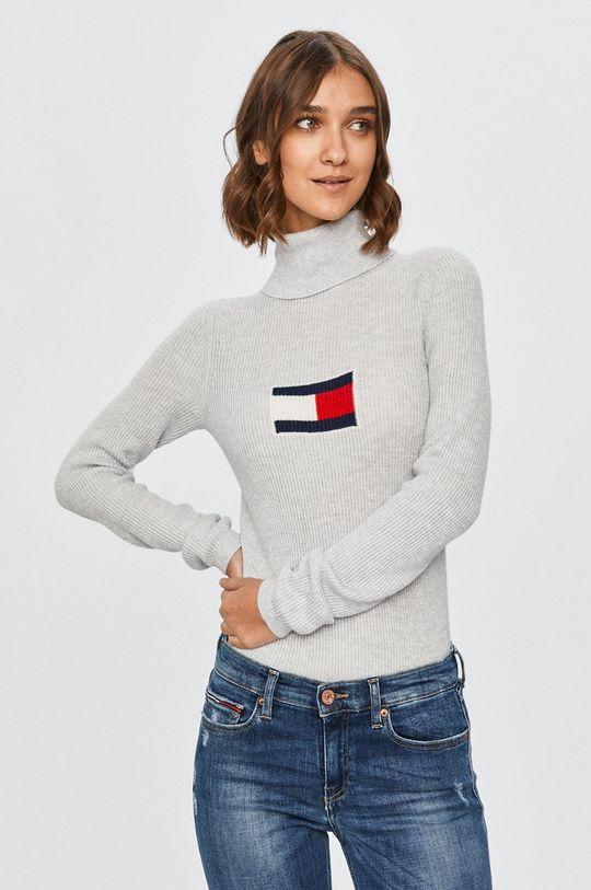 gri deschis Tommy Jeans - Pulover De femei