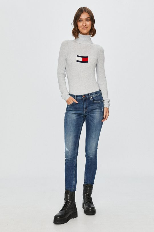 Tommy Jeans - Pulover gri deschis